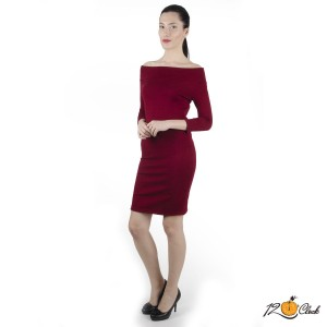 рокля с дълъг ръкав