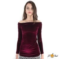 блуза с деколте