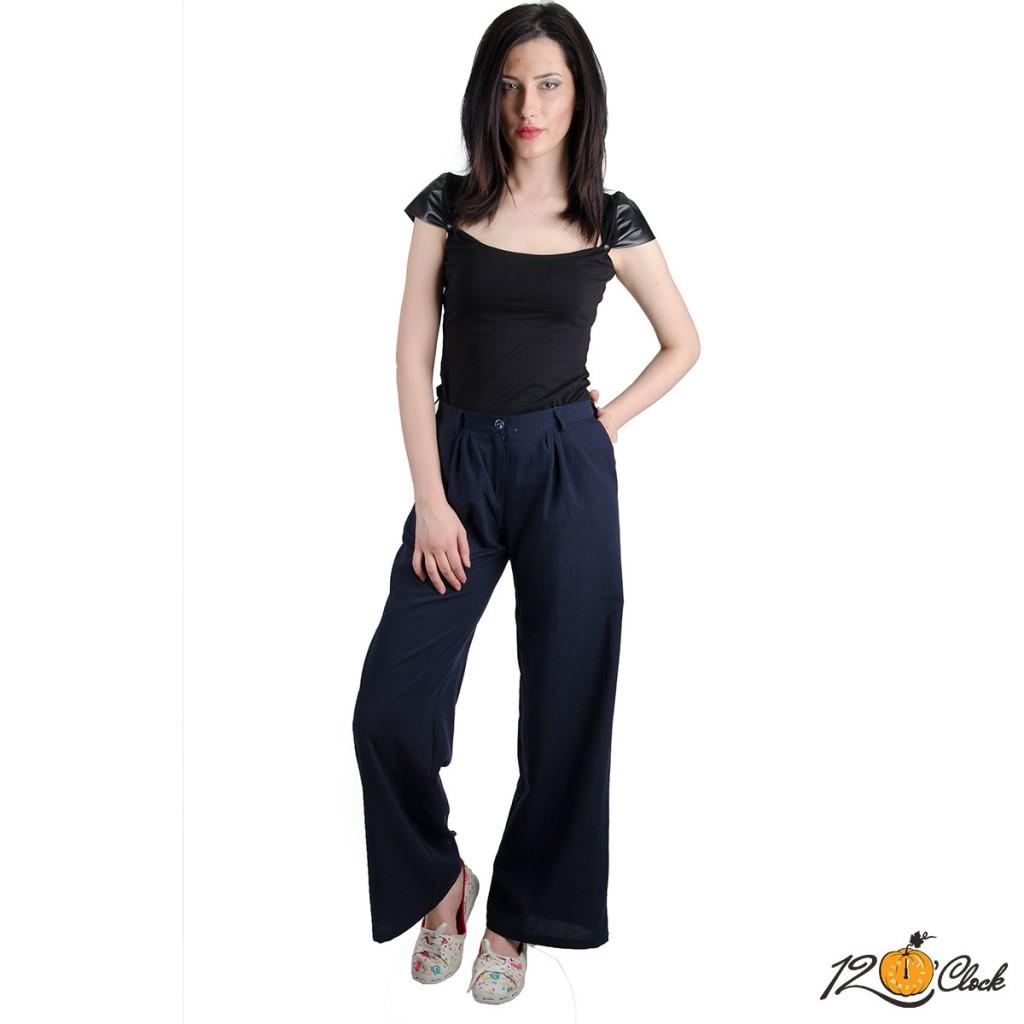 Широк, дълъг памучен панталон