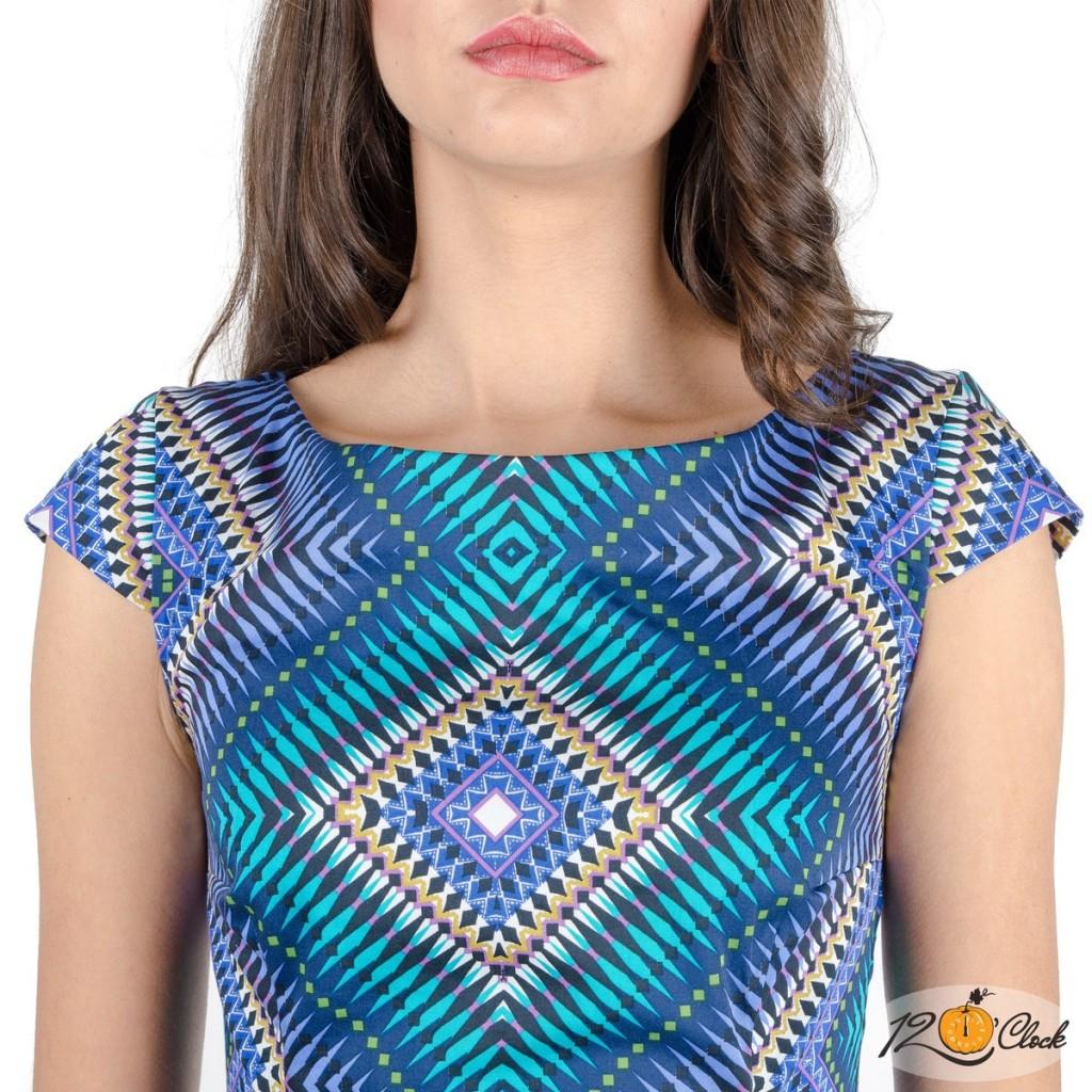 рокля от щампиран памук