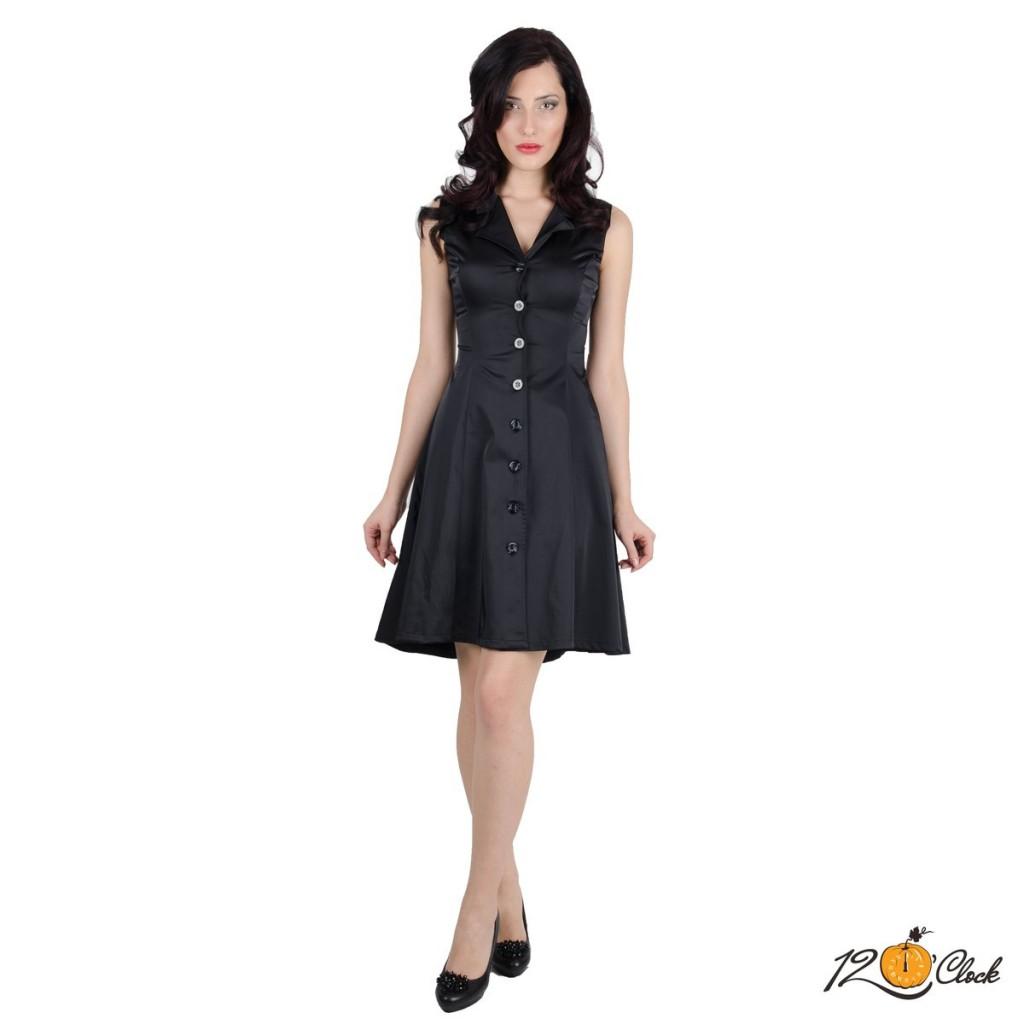 черна рокля без ръкави