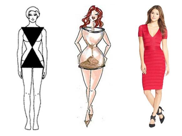 дрехи за дами с фигура тип пясъчен часовник
