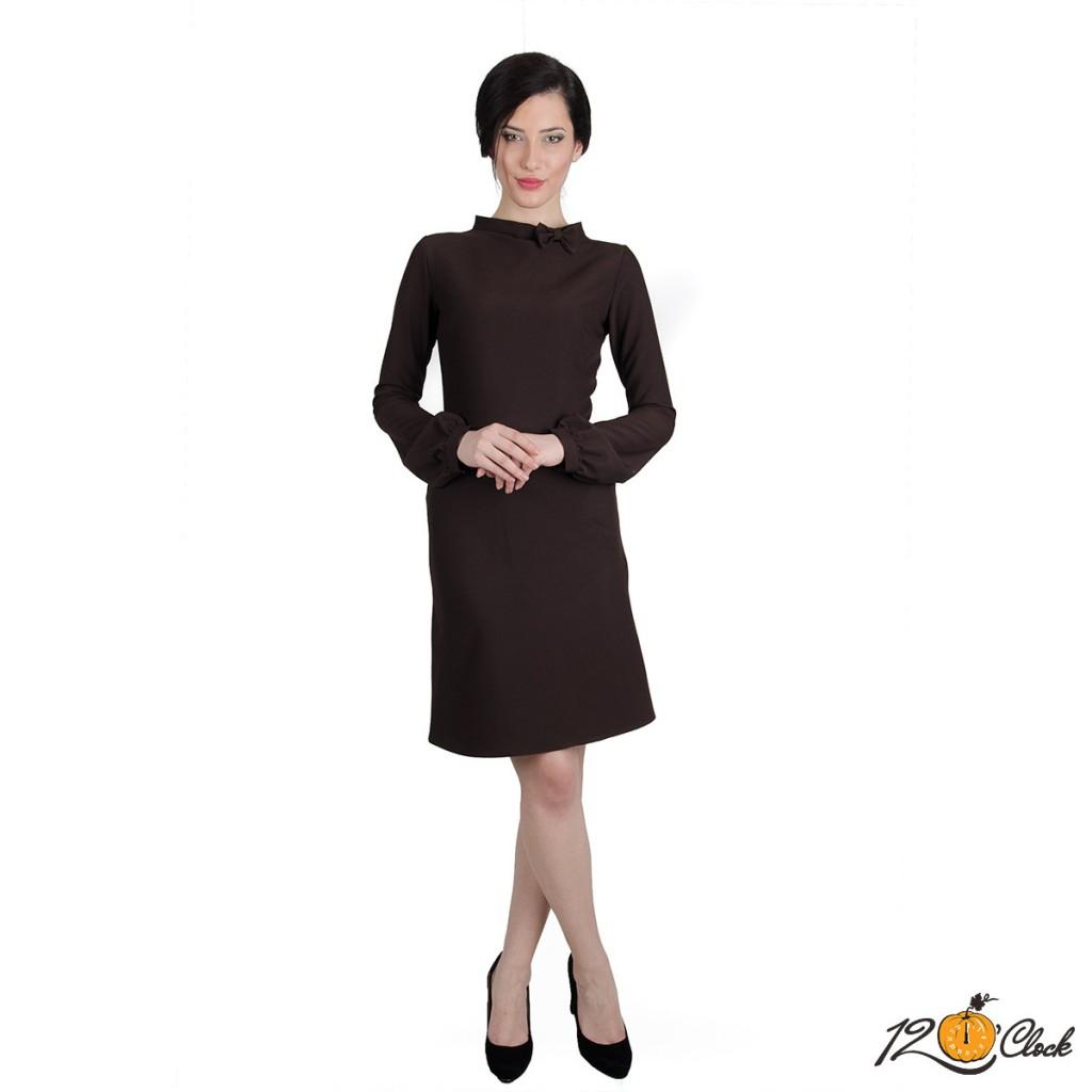 Къса рокля с дълъг ръкав