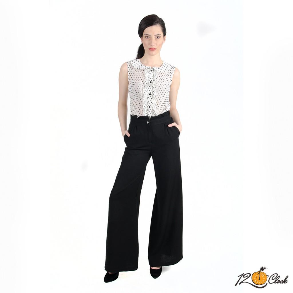 разкроен панталон с висока талия