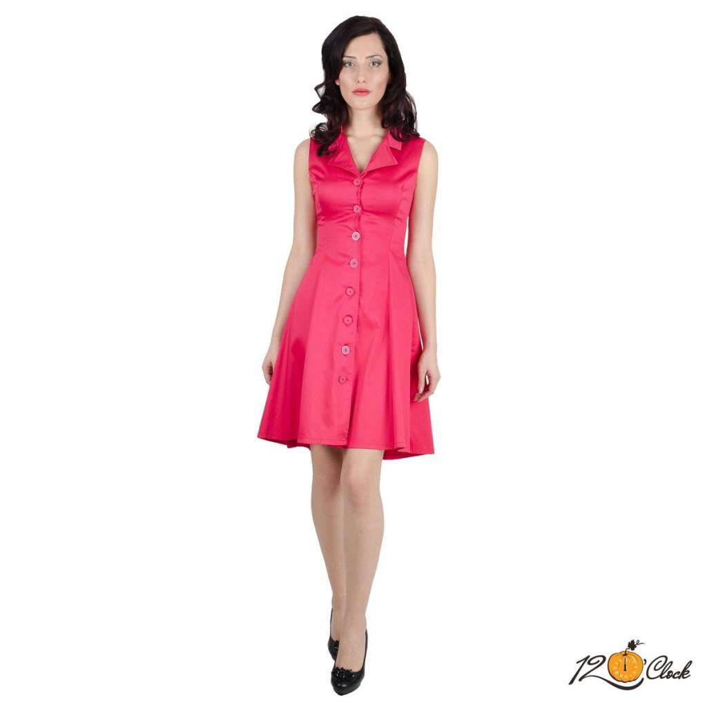 рокля с ревер