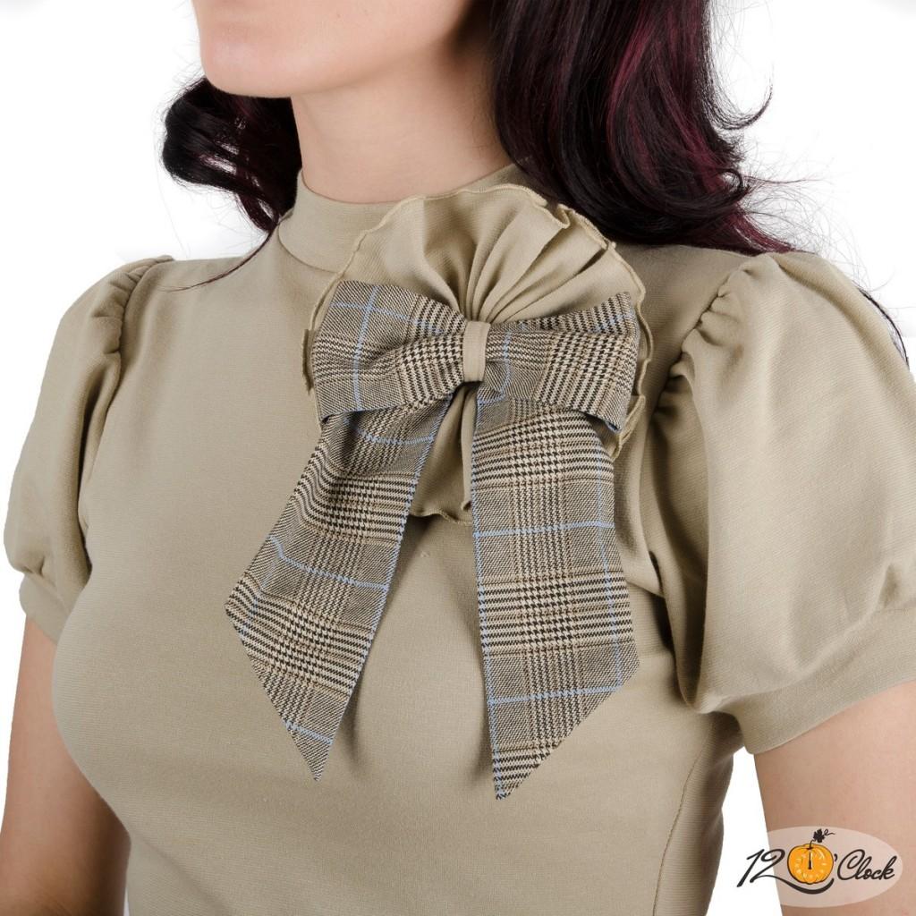 блуза с буфан къси ръкави