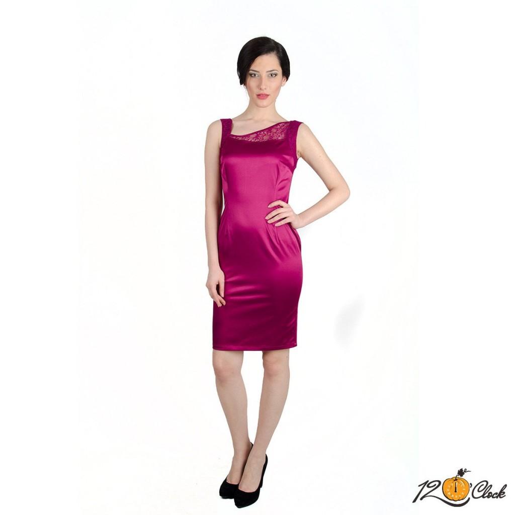сатенена рокля