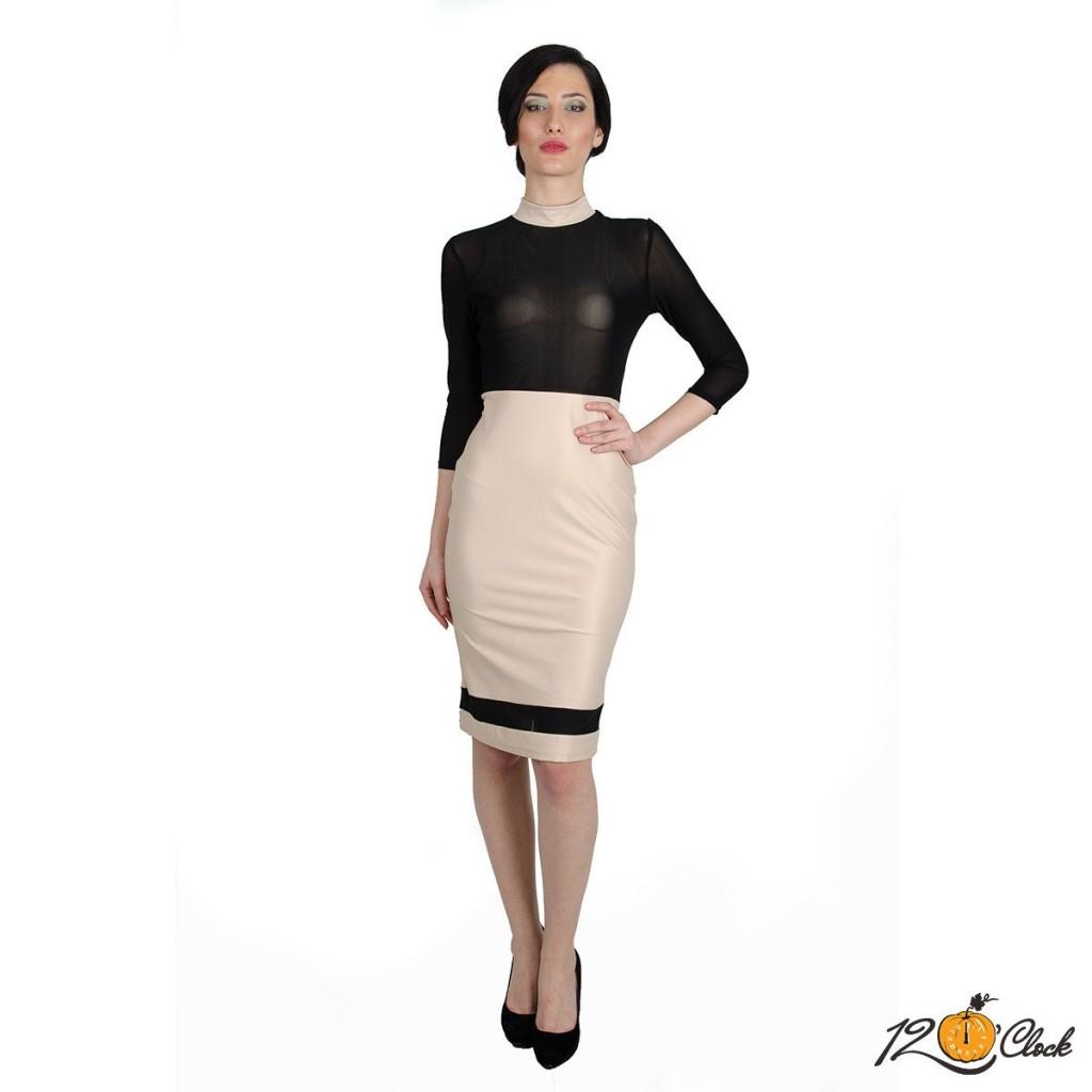 Елегантна вталена рокля