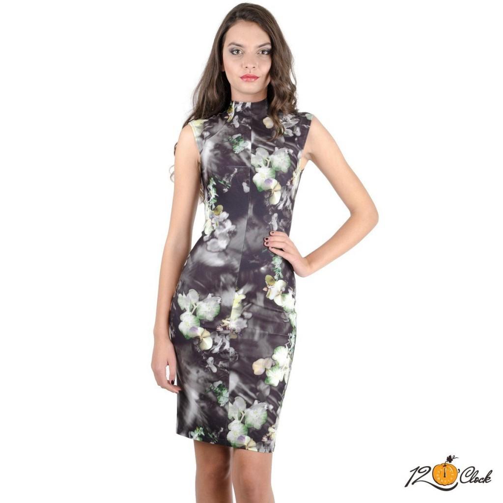 """вталена рокля """"Орхидея"""""""