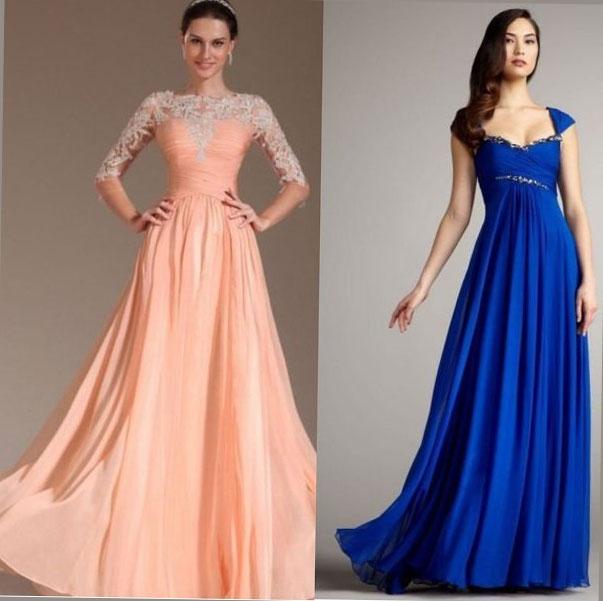 дълга разкроена рокля