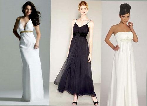 дълга рокля с висока талия