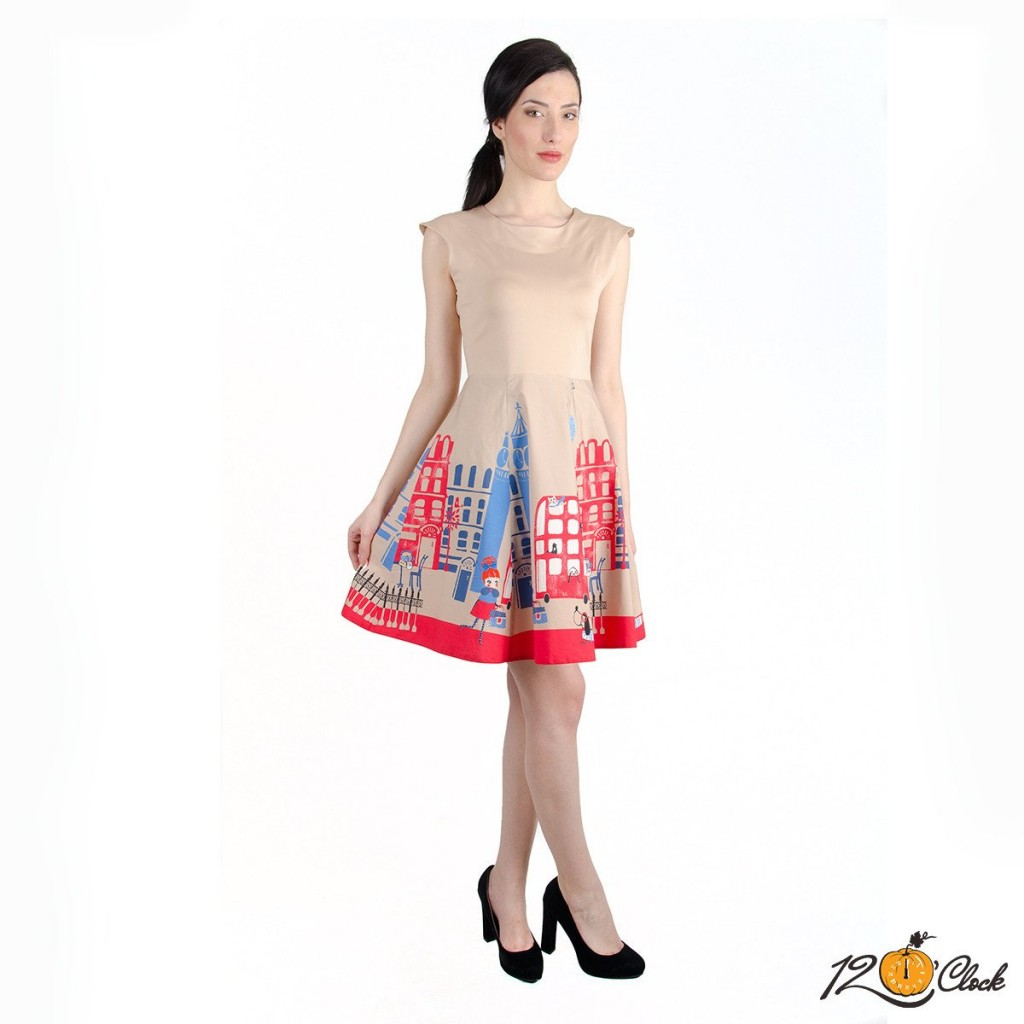 рокля от щампирано трико