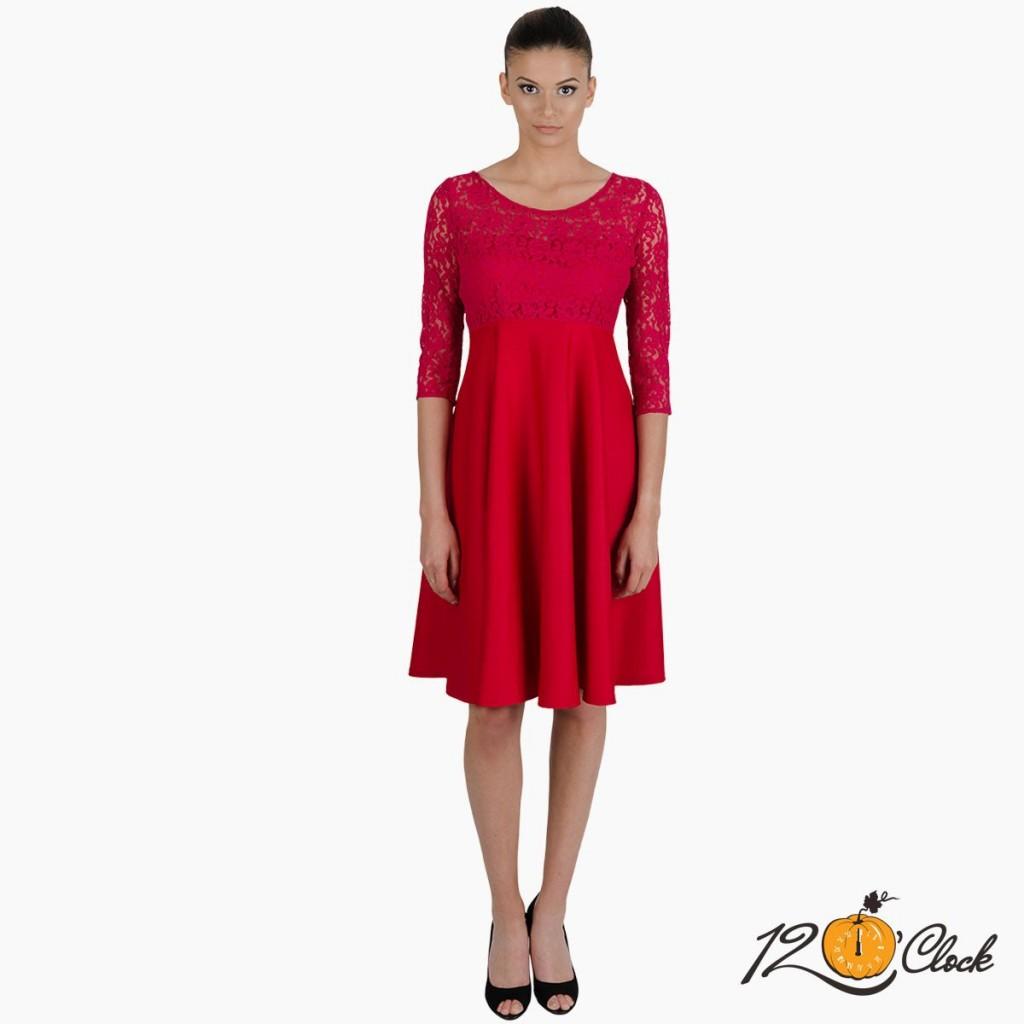 """разкроена рокля """"Малиново вино"""""""