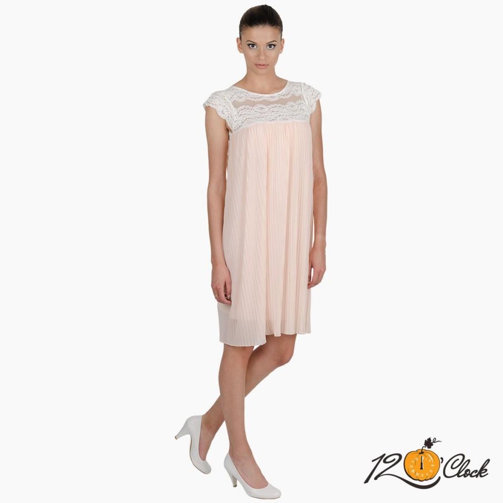 розова рокля солей