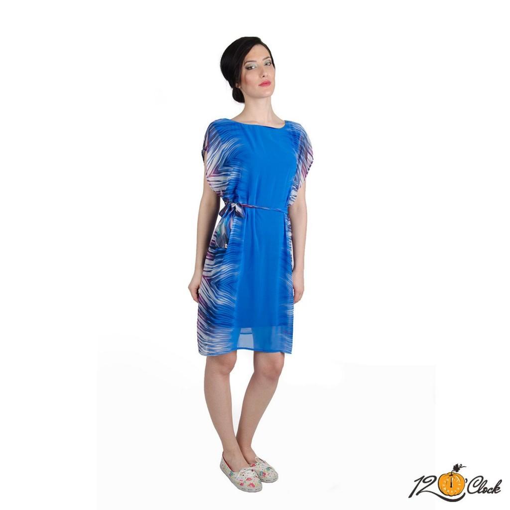 """рокля в синьо """"Градация"""""""