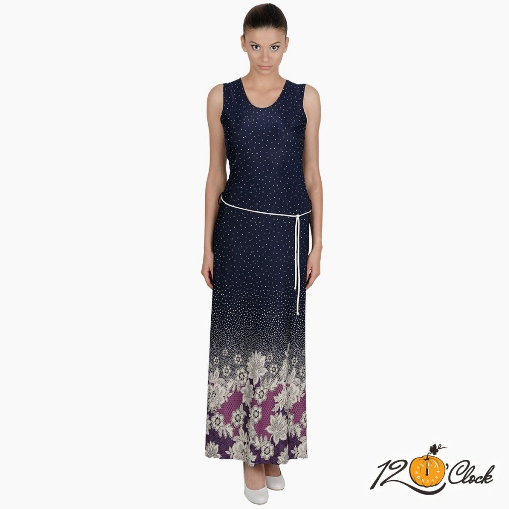 """дълга рокля """"Маслени цветя"""""""