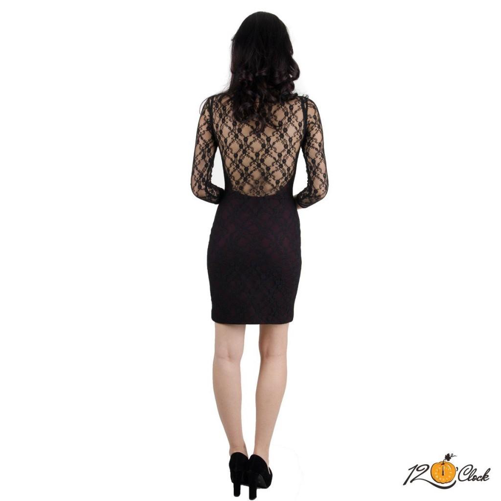 "роклята с черна дантела ""Wine Night"""
