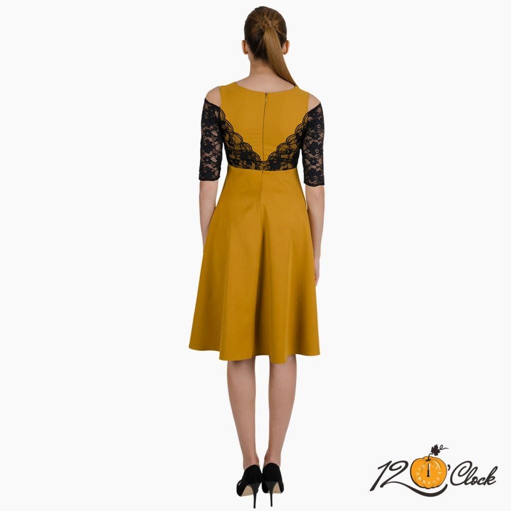 """рокля """"Тъмна горчица"""""""
