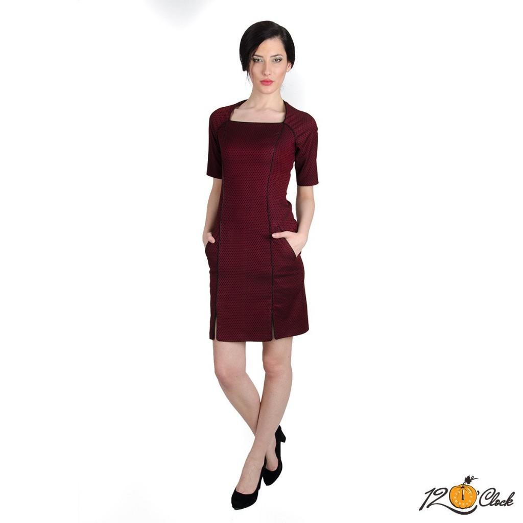 """дамска къса рокля """"Стил в червено"""""""
