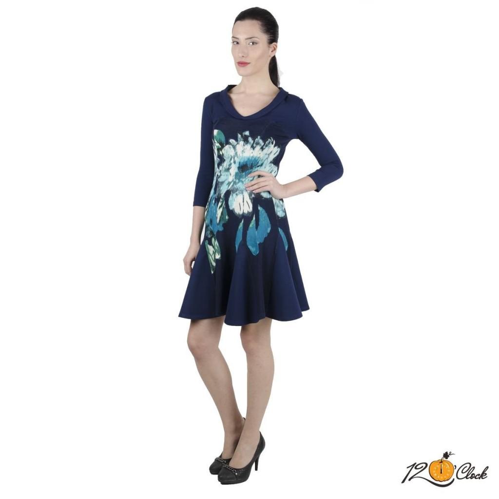 "трикотажна рокля ""Ледени цветя"""