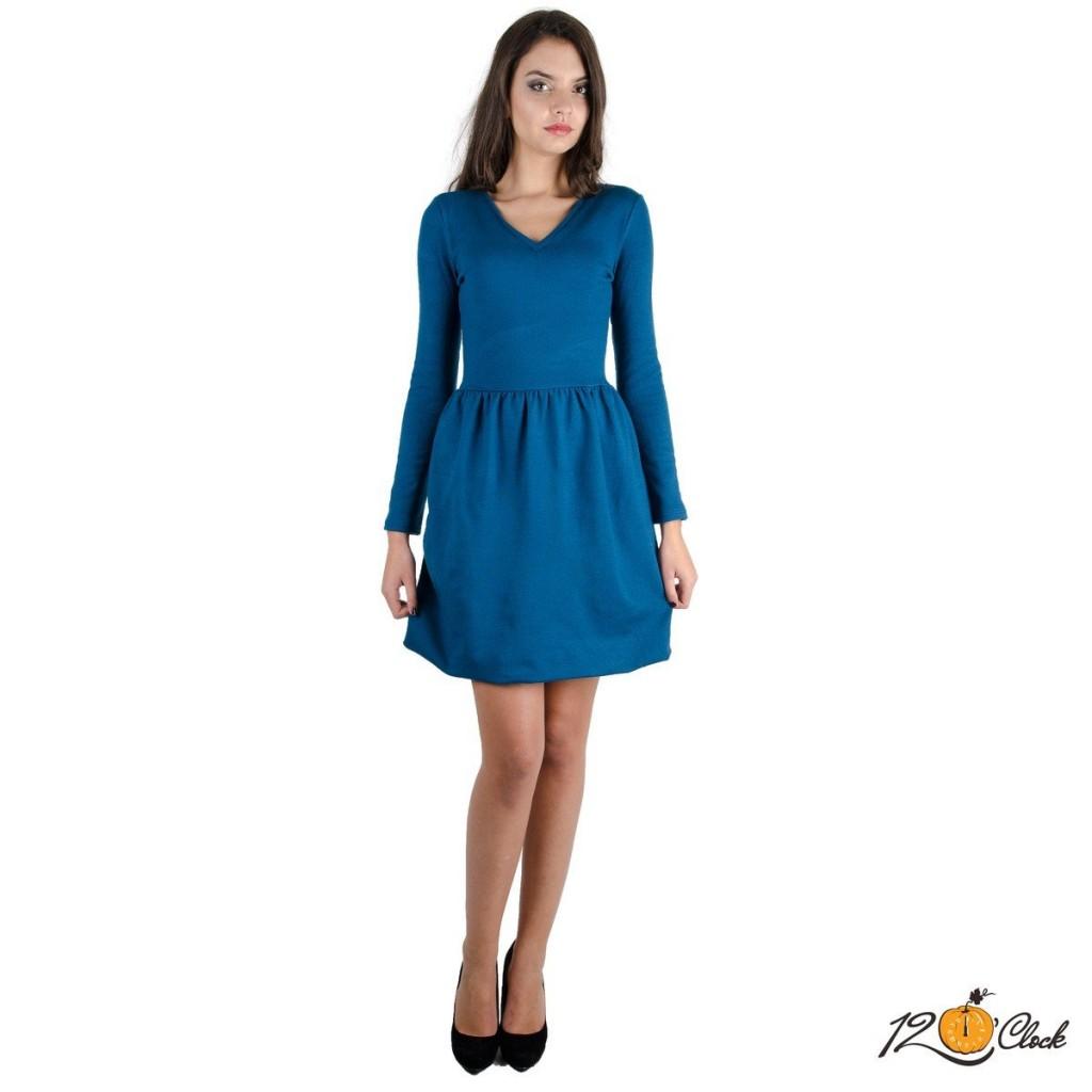 """рокля от еластично плетиво """"Зимно небе"""""""