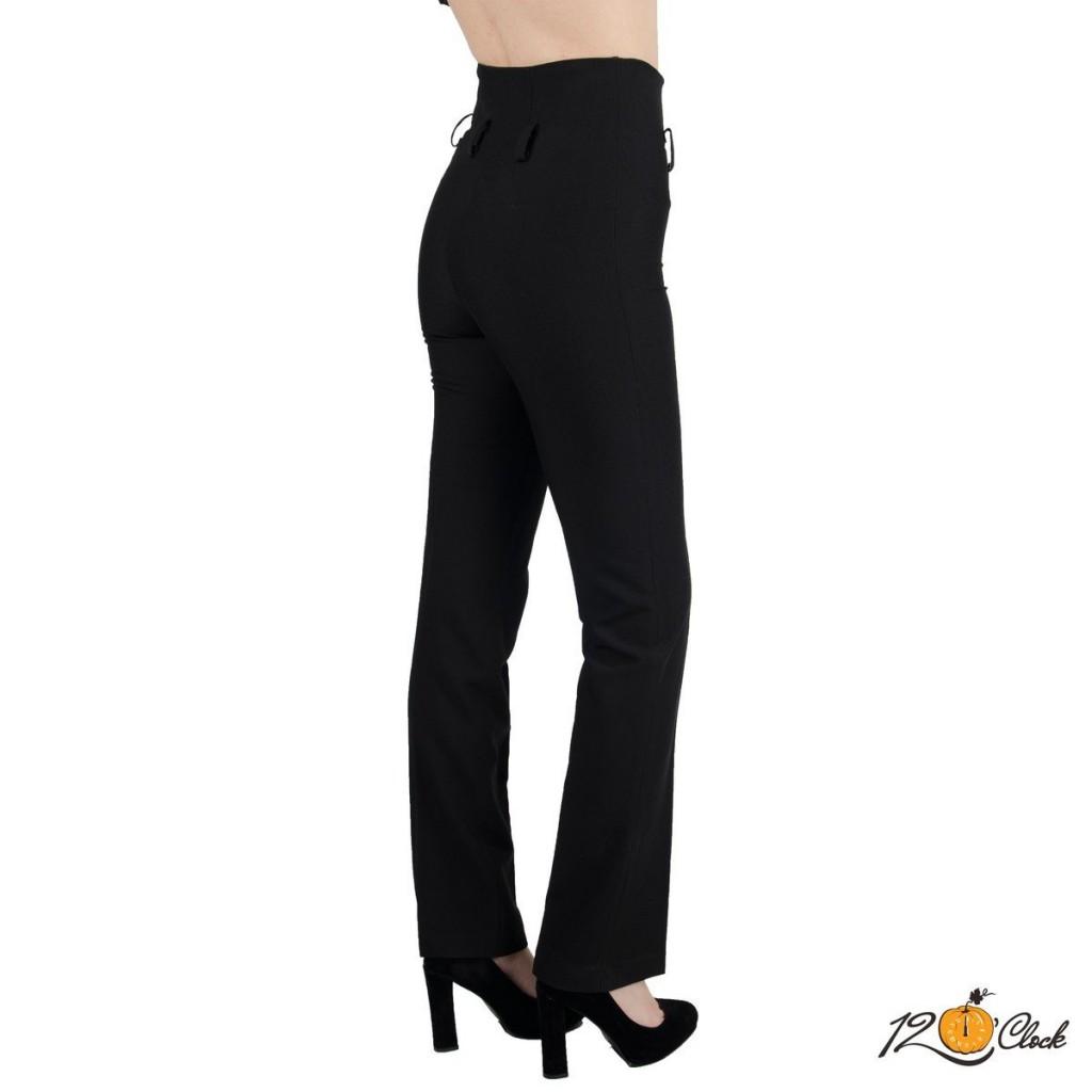 Класически черен панталон с висока талия