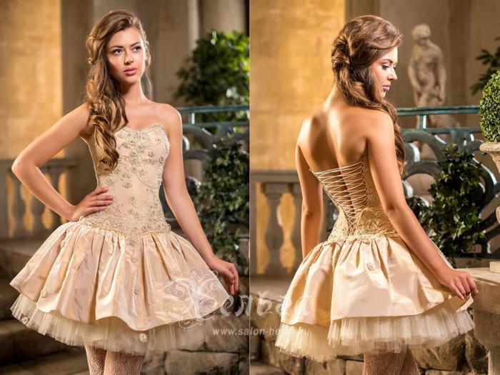 рокля с корсет