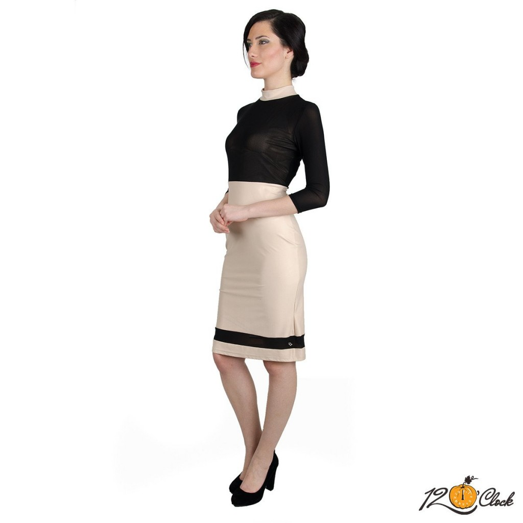 "елагантна вталена рокля ""Черна илюзия"""