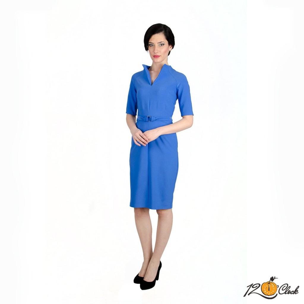 "елегантна рокля в синьо ""Небесен силует"""
