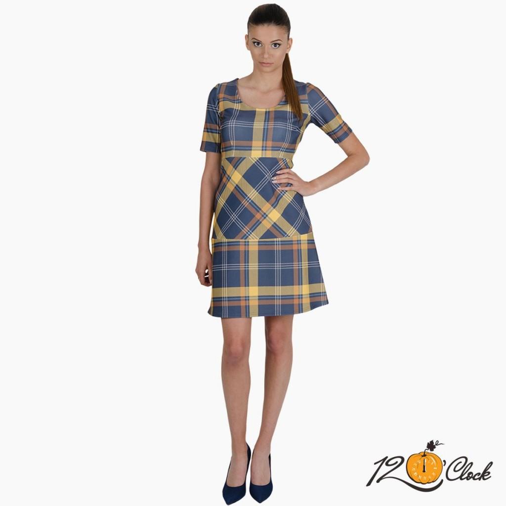 карирана рокличка