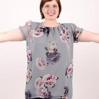 Свободна блуза от шифон