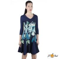 рокля с принт на цветя