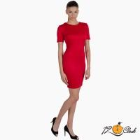 рокля с къс ръкав